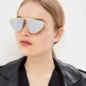 💯 NEW DIOR ULTIME1 GOLD/SILVER 083I-0T Sunglasses